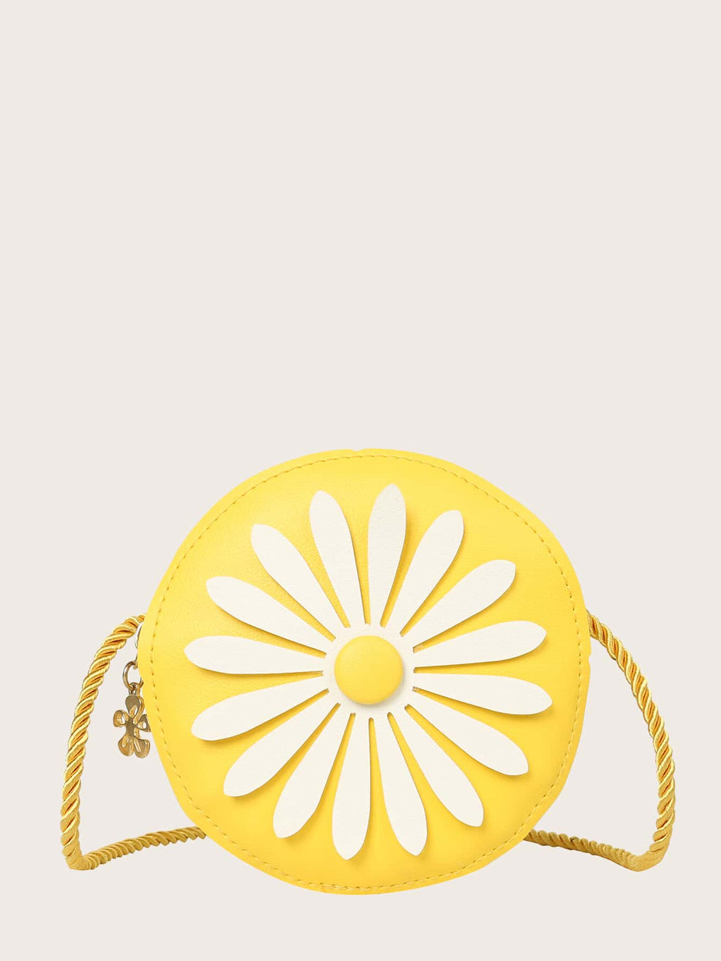 Girls Round Flower Detail Crossbody Bag