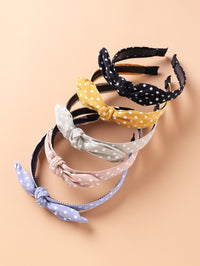 5pcs Toddler Girls Bow Polka Dot Hair Hoop