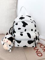 Girls Cow Pattern Backpack