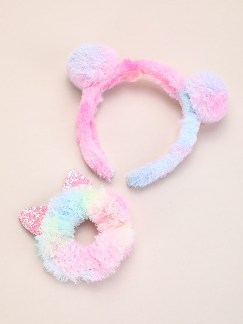 2pcs Toddler Girls Fluffy Hair Accessory