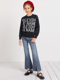 Girls Slogan Graphic Sweater