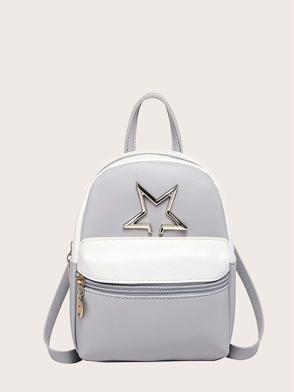 Girls Two Tone Metal Decor Backpack
