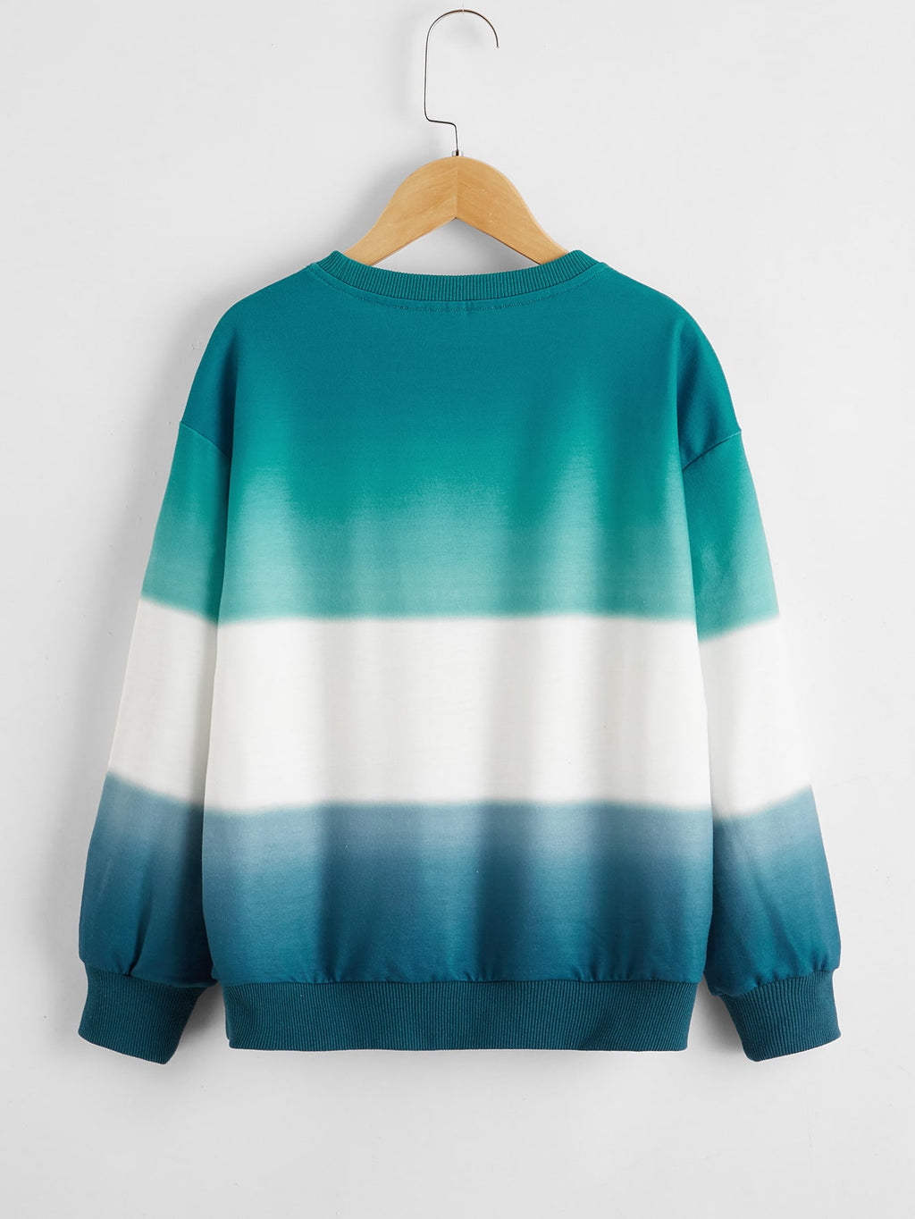 Boys Drop Shoulder Ombre Pullover