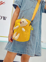 Girls Bear Decor Crossbody Bag
