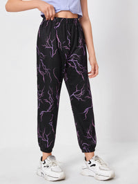 Girls Lightning Print Sweatpants
