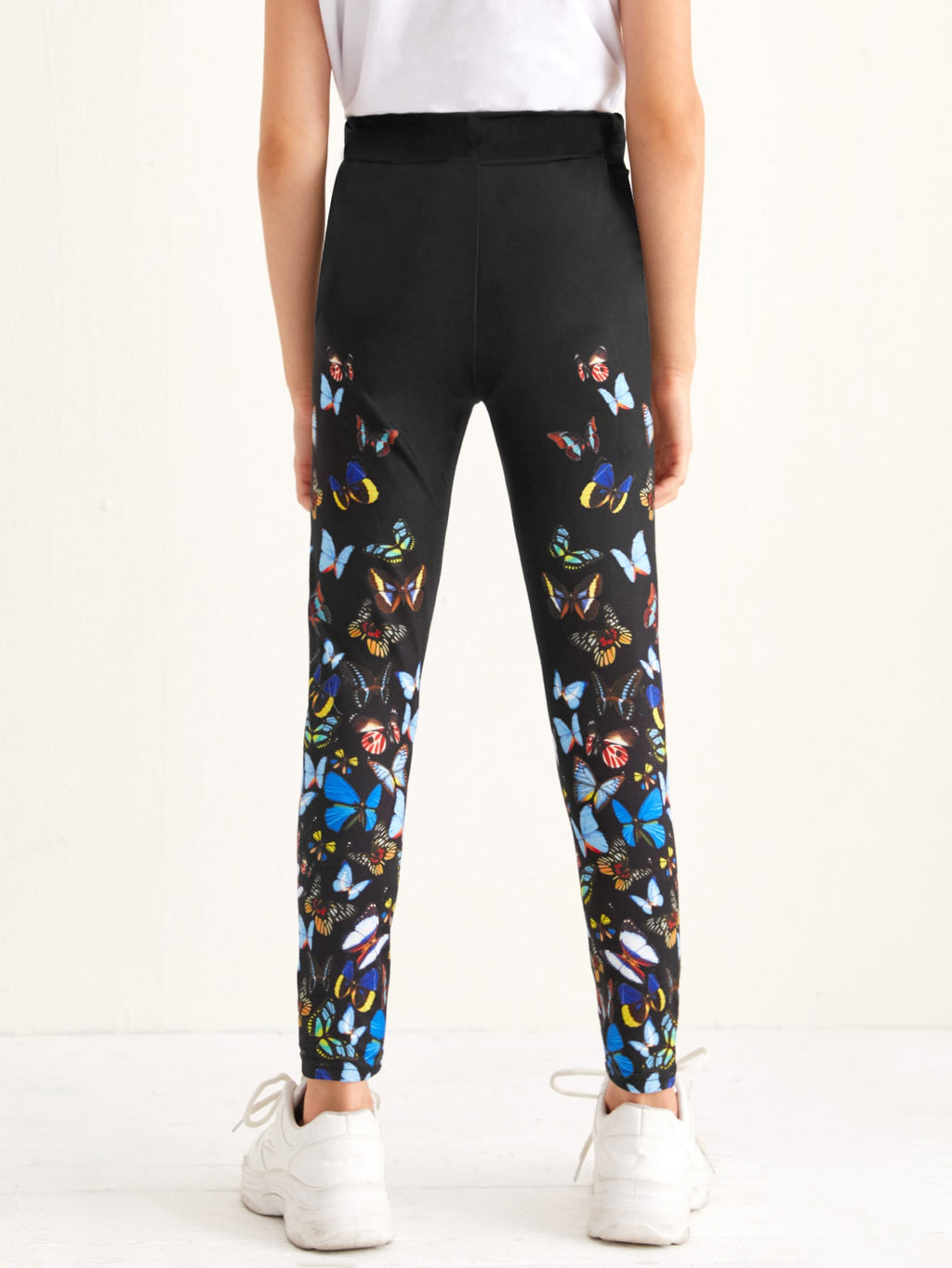 Girls Butterfly Print Leggings - FD