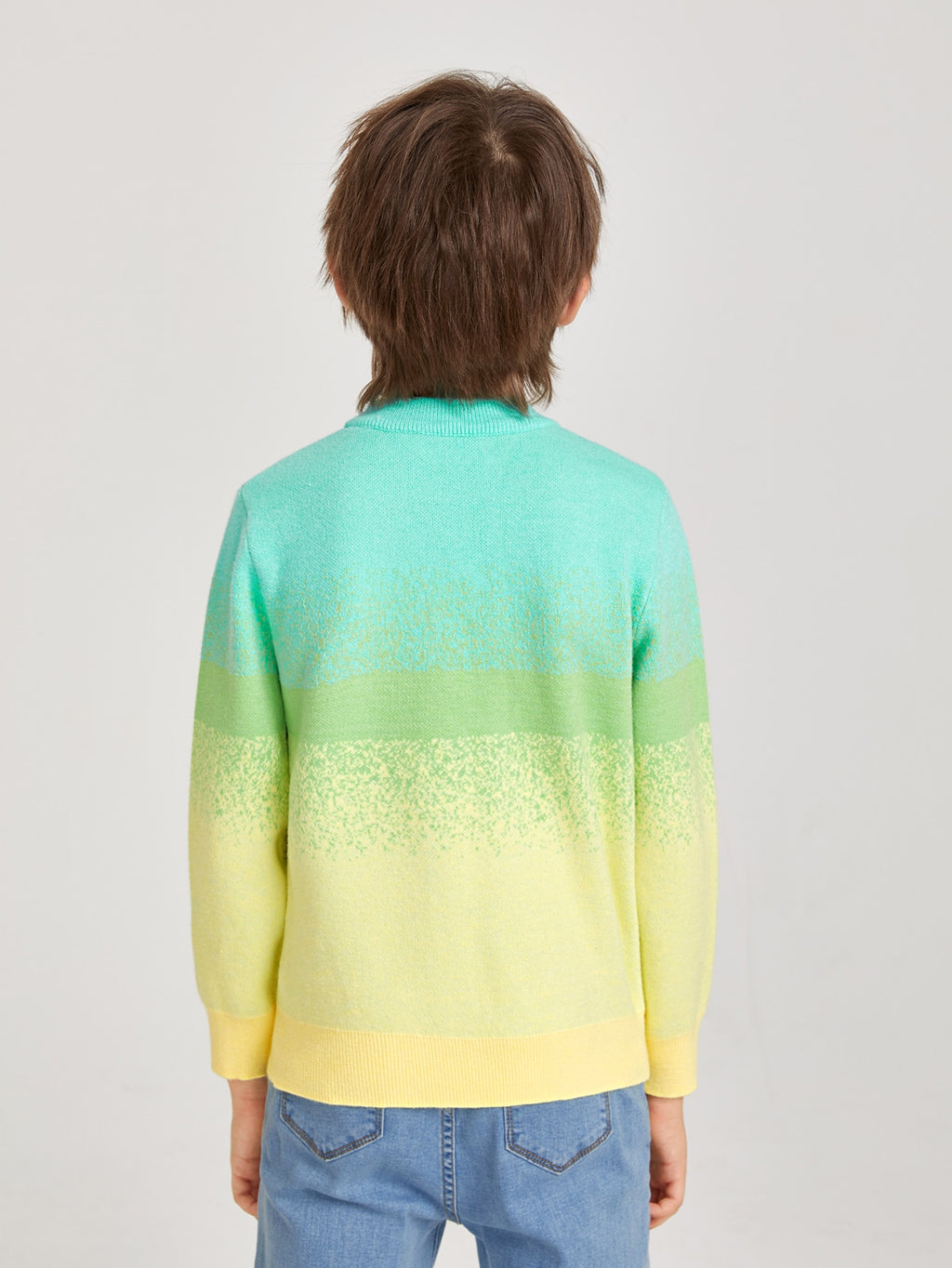 Boys Mock Neck Colorblock Sweater