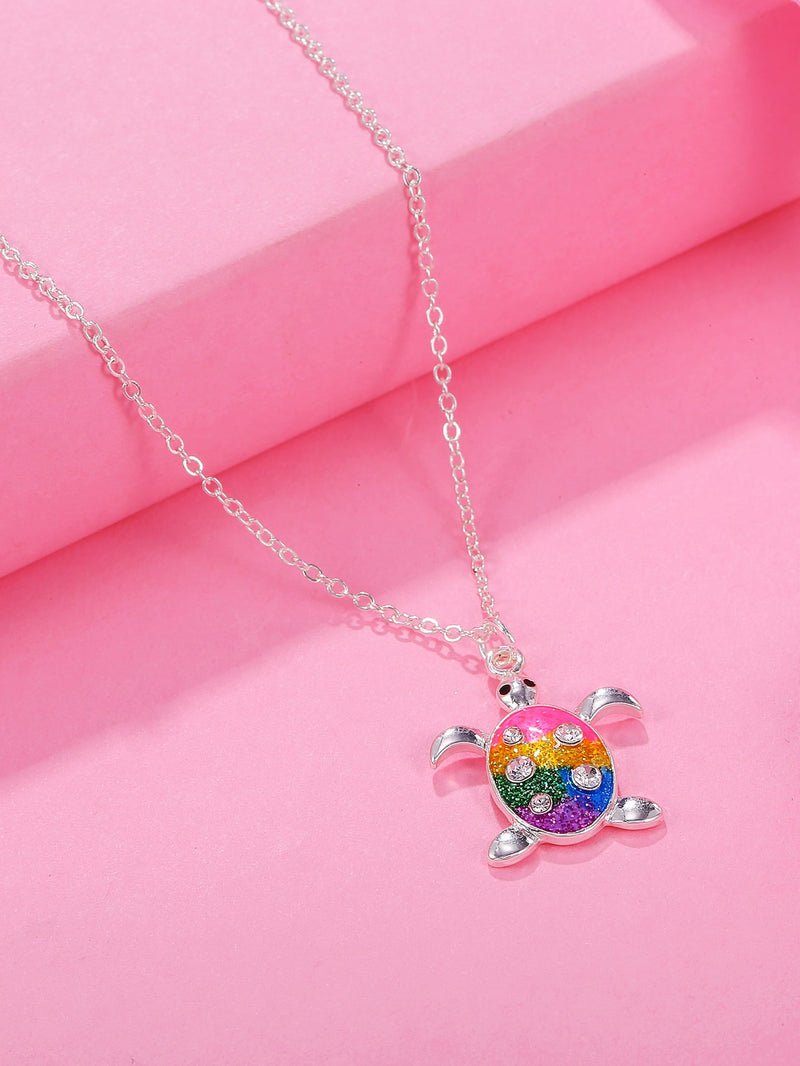 Toddler Girls Turtle Charm Necklace - FD
