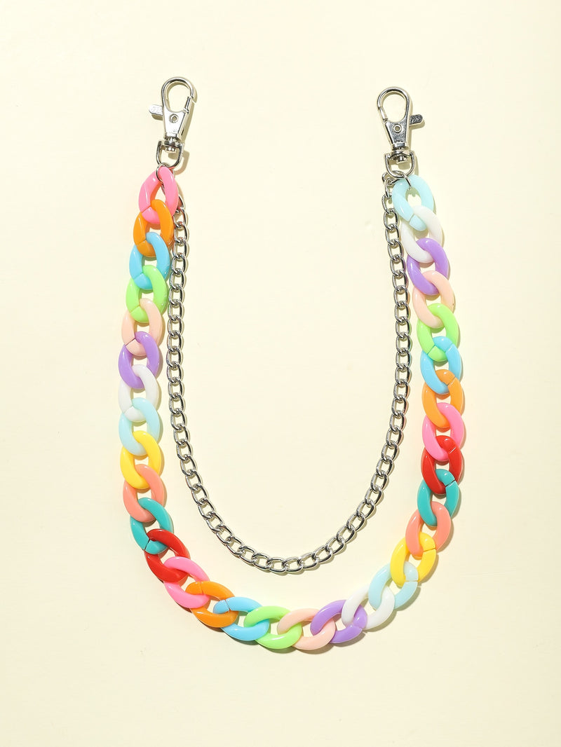 Girls Colorful Pants Chain