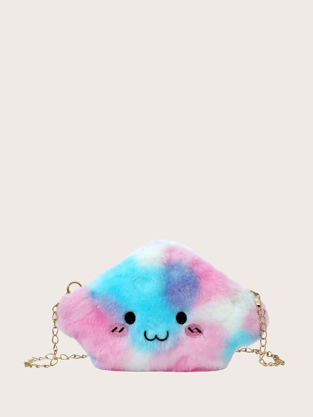 Girls Gradient Cartoon Fluffy Chain Bag