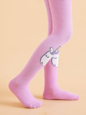 Toddler Girls Unicorn Pattern Tight