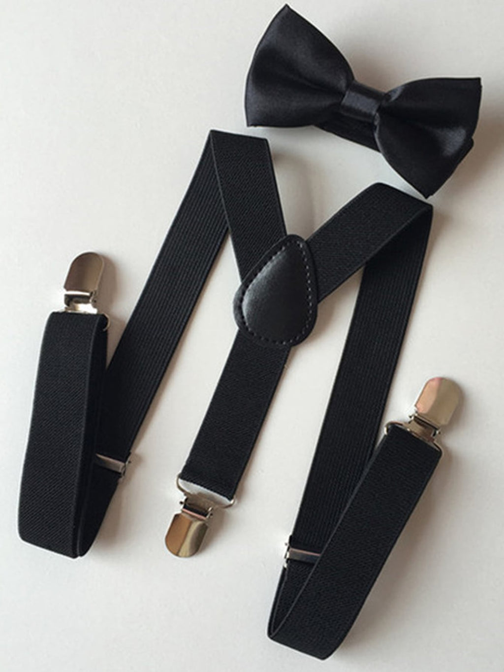 1pc Toddler Boy Suspender & 1pc Bow Tie - FD