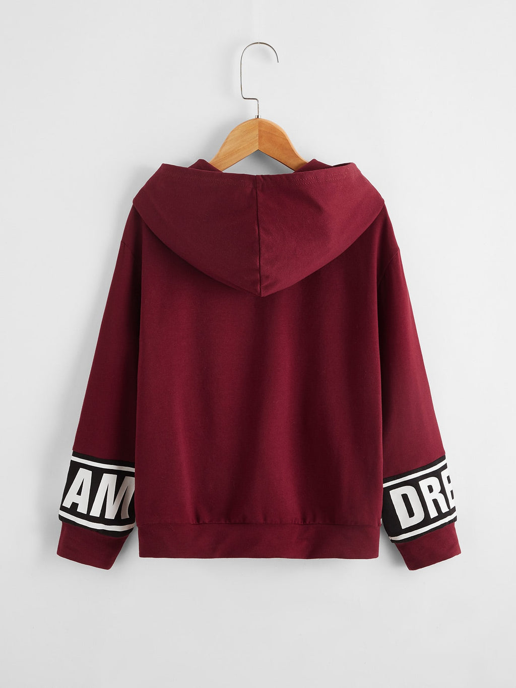 Boys Letter Graphic Drop Shoulder Hoodie