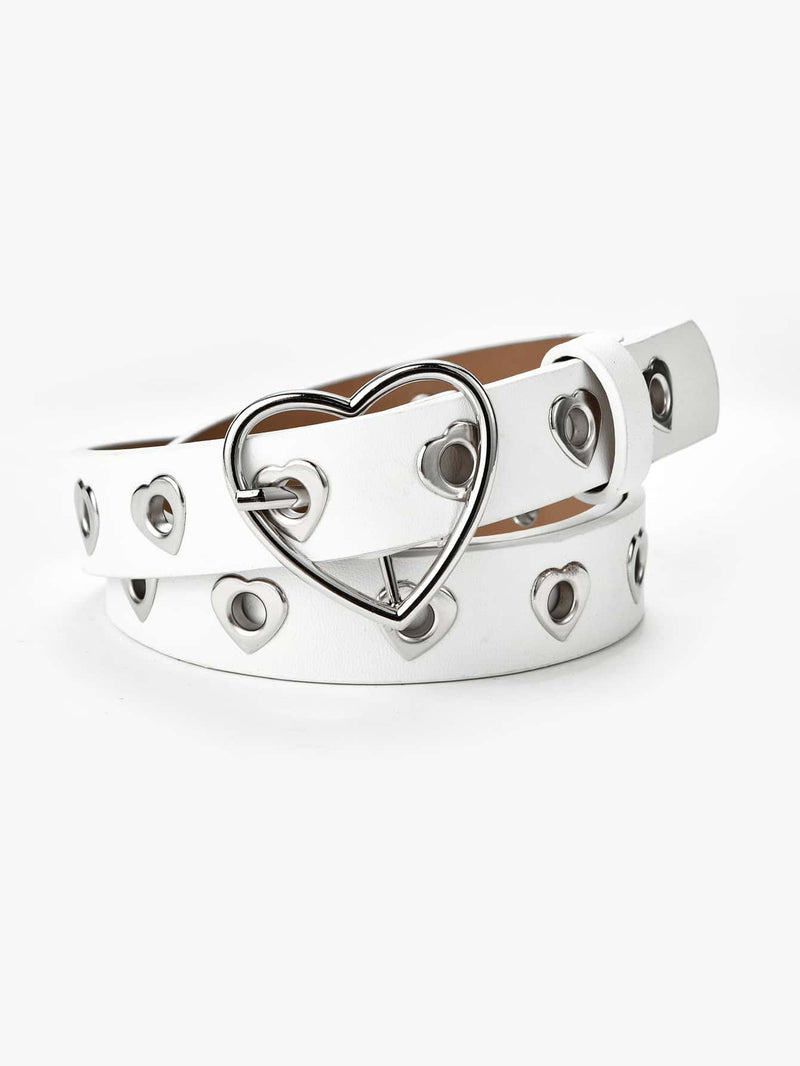 Girls Heart Design Buckle Belt