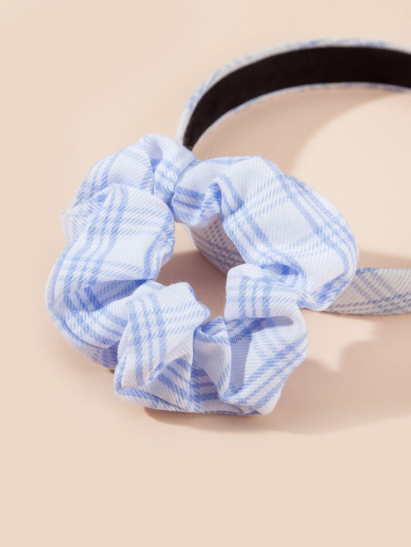 2pcs Toddler Girls Plaid Pattern Hair Accessory