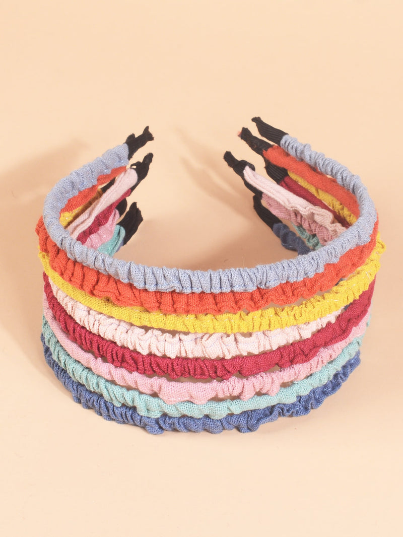 8pcs Toddler Girls Simple Solid Hair Hoop