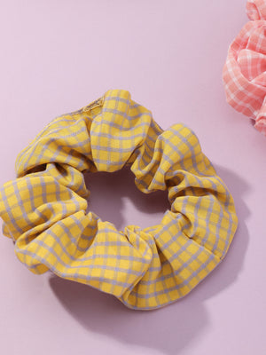 5pcs Toddler Girls Plaid Pattern Scrunchie