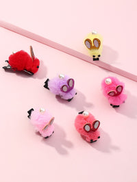 6pcs Toddler Girls Pom-pom Decor Hair Clip