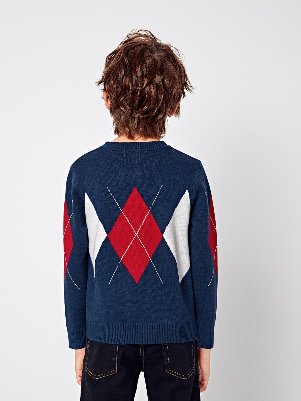 Boys Argyle Pattern Sweater