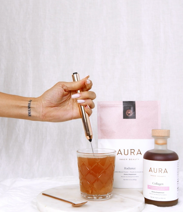 AURA Rose Gold Frother