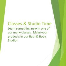 Classes & Studio Time