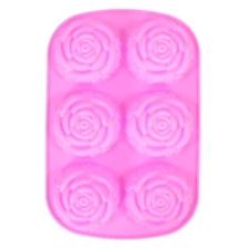 Rose with Leaves Silicone Mold