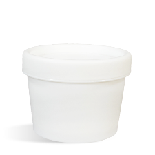 White Plastic Pot & Lid Set - 100 ml