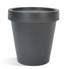 Black Plastic Pot & Lid Set - 200 ml