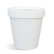 White Plastic Pot & Lid Set - 200 ml