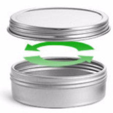 Metal Tin - 1/2 oz round with twist top lid