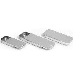Metal Slide Top Tin - .25oz