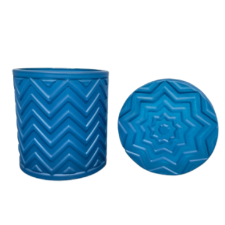 Chevron Candle Vessel - Blue