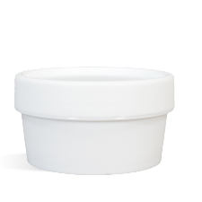 White Plastic Pot & Lid Set - 50 ml