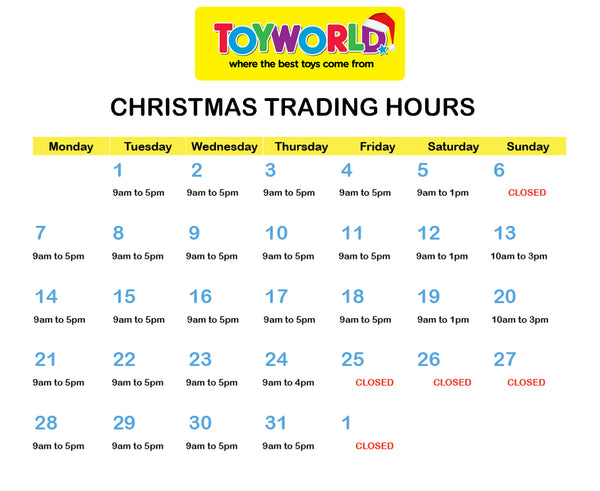 TW Swan Hill Christmas Opening Hours