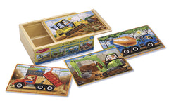 Melissa & Doug Construction Puzzle In A Box - Toyworld