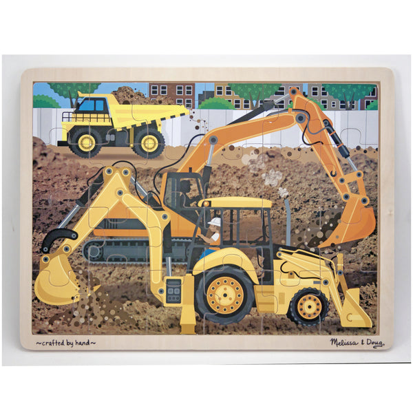 Melissa & Doug Diggers At Work Wooden Puzzle - Toyworld