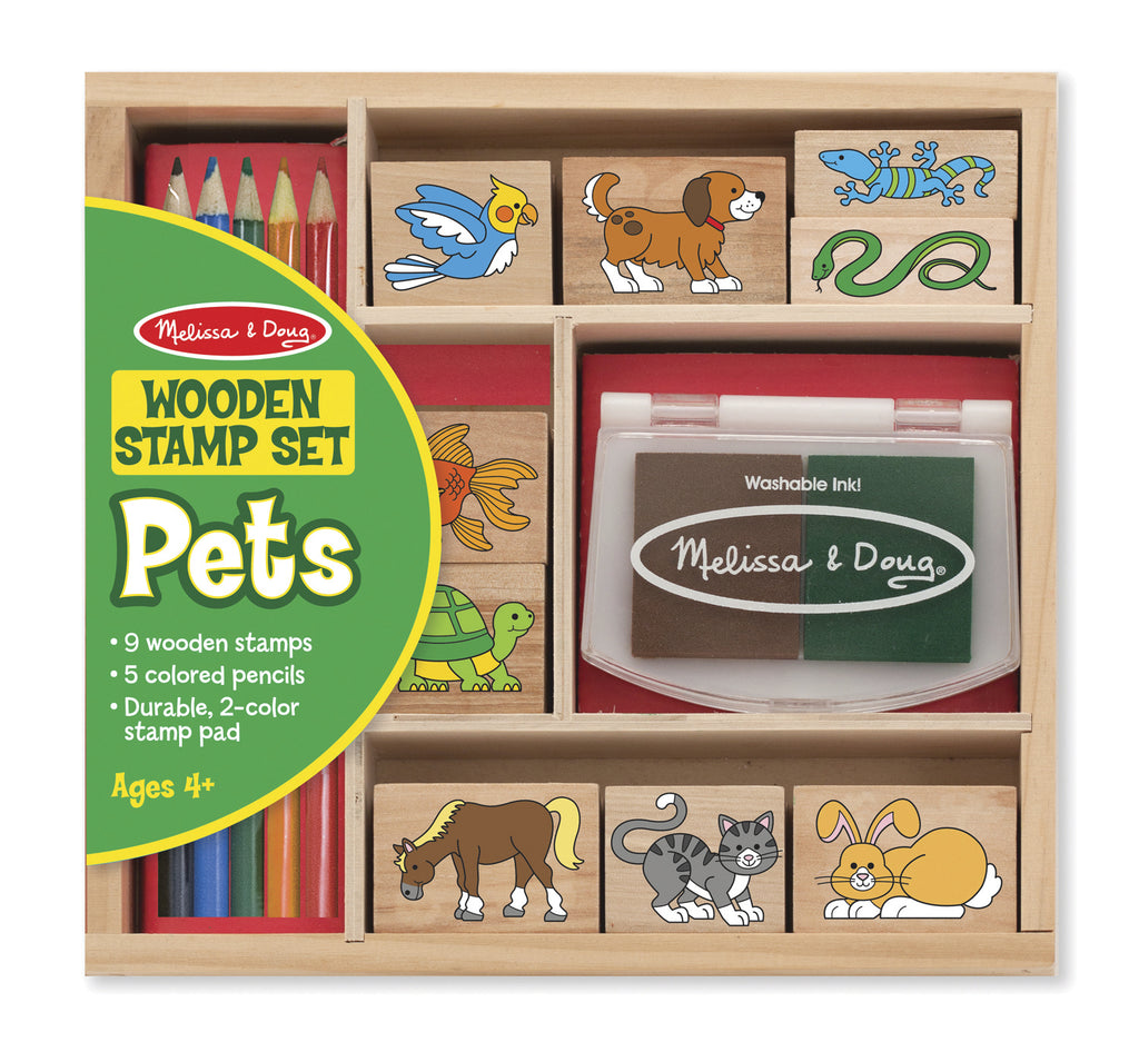 MELISSA & DOUG - WOODEN PETS STAMP SET