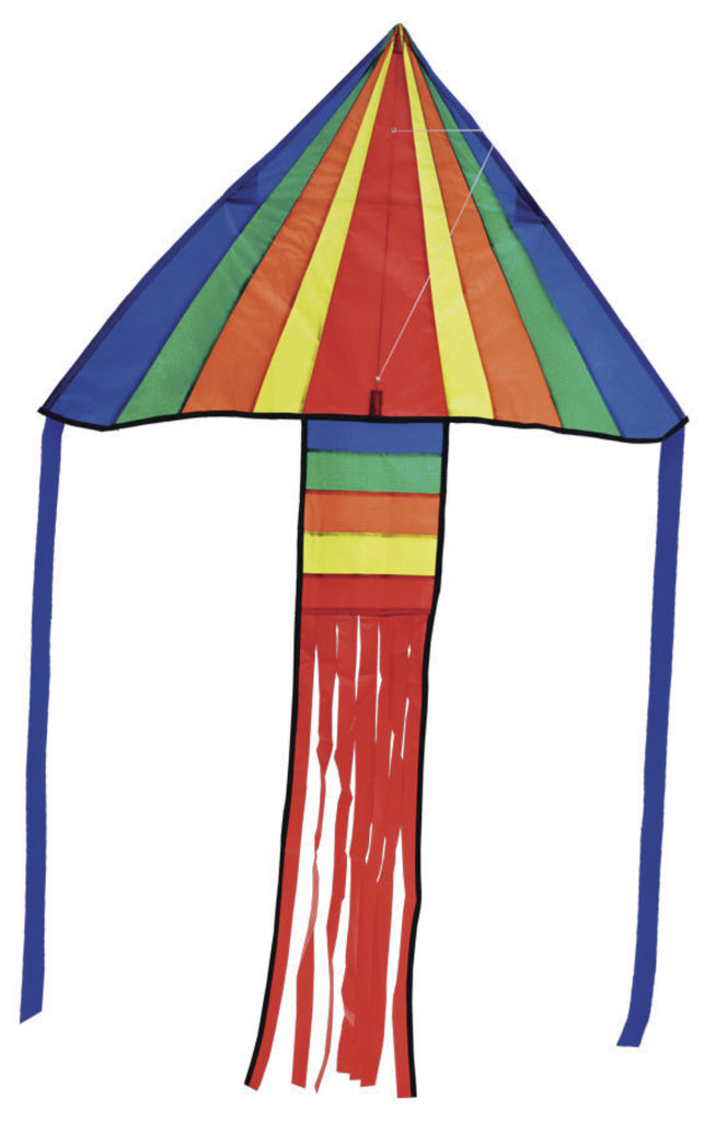 Melissa Doug Rainbow Rocket Delta Kite - Toyworld