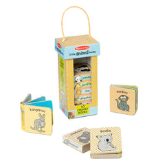 MELISSA & DOUG - NATURAL PLAY BOOK TOWER LITTLE ANIMAL BOOKS
