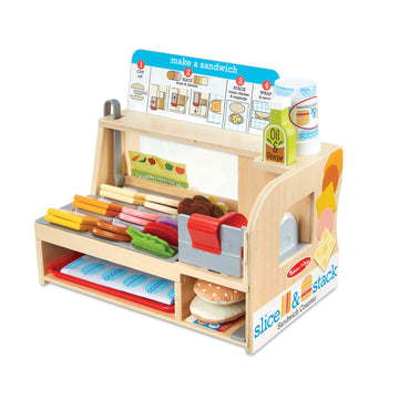 Melissa & Doug Slice & Stack Sandwich Counter - Toyworld