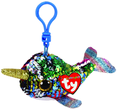 Ty Beanie Boos Clip On Sequins Multi Narwhal - Toyworld