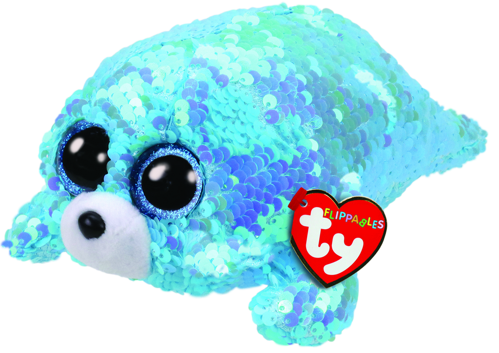 Ty Beanie Boos Flippables Waves The Seal - Toyworld
