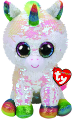 BEANIE BOO MEDIUM SEQUINS PIXY WHITE UNICORN