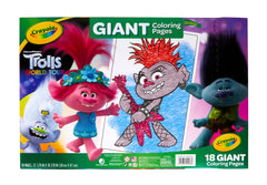 CRAYOLA GIANT COLORING PAGES TROLLS 2