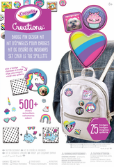 CRAYOLA CREATIONS BADGE PIN DESIGN KIT