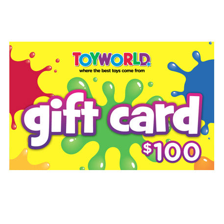 $100.00 TOYWORLD GIFT CARD