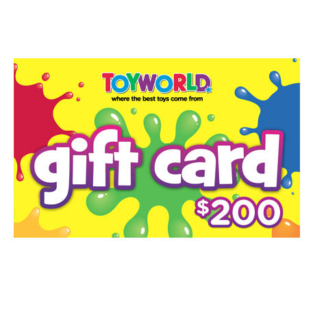 $200.00 TOYWORLD GIFT CARD