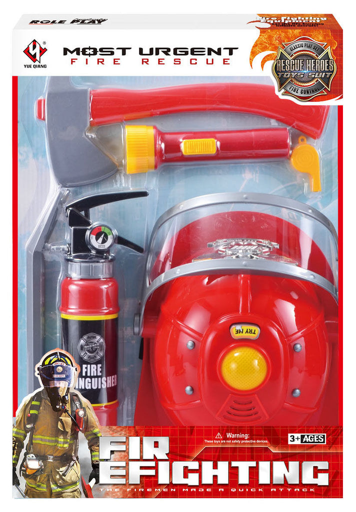 Fire Fighting Rescue Helmet With Light & Tools - Toyworld