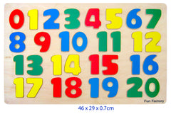 Fun Factory Raised Puzzle Number - Toyworld