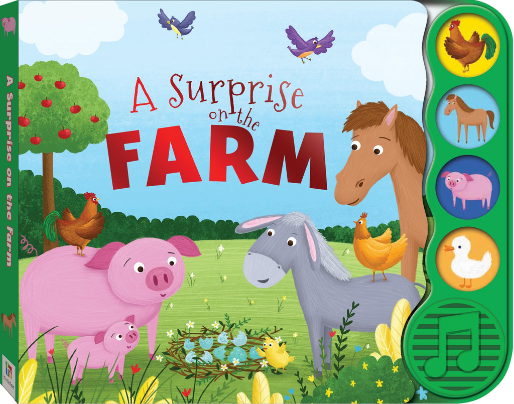A SURPRISE ON THE FARM 4 BUTTON BOOK